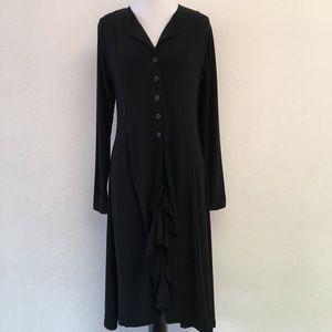 Sympli The Mystic Black Long Sleeve Dress Size 8